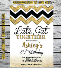 10 Personalised Birthday Invitations Party Invites 18th 21st 30th 40th 50th 60th