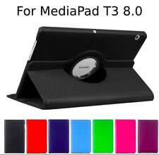 "360 Rotating Leather Case Cover For Huawei MediaPad T3 8.0"" [Black]"