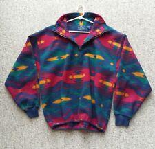 Women's Native American Fleece Jacket Plush  Indian Tribal Quarter Zip Coat L