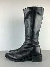 VIC MATIE Made in Italy Lederstiefel Stiefelette Leather Boot Schwarz Black 39,5