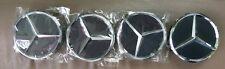 Mercedes Benz centre caps wheel rim 75mm x 4 Black Chrome  AMG A B C E S ML GL