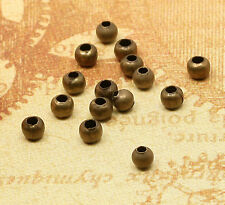 100x Metallperlen Kugel Spacer bronze 3mm SZ307