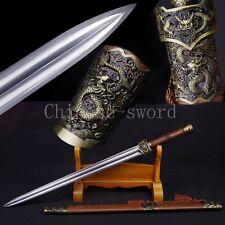 "High quality Chinese sword ""han jian"" manganese steel blade alloy fittings"