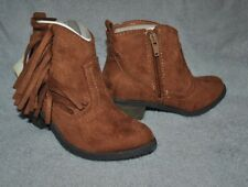 NEW FADED GLORY Girl's BOOTS COWGIRL Brown/Cognac s 12