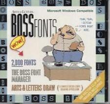 Arts & Letters: Boss Fonts PC CD 2000 drawing clip art images manager postscript