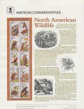 USA 2286-2335 - 22ct x50 WILDLIFE SET- CP282-286 Commemorative Stamp Panels 1987