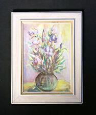 Bello Pittura fiore con Tulipani. Orig. antico Dipinto a olio,