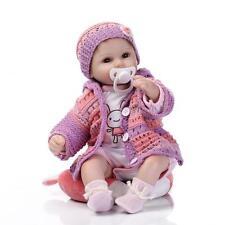 "16""40cm Lifelike reborn baby soft silicone vinyl girl doll toy FOR CHILDREN"