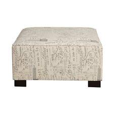 Poundex Furniture F7982 Poundex Bobkona Burton Ottoman with Script Pattern