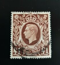 GB 1948 GVI £1 Brown Fine Used SG478c
