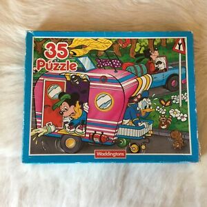 Waddingtons Disney Camping Jigsaw Puzzle 35 Piece 1990 DONALD DUCK Goofy MICKEY