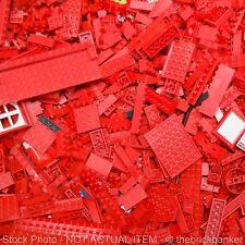 LEGO 1/4lb (BRIGHT) RED~100 Pieces-SANITIZED-Bulk Pound Lot Brick Part Random As
