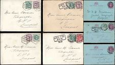 GB QV STATIONERY LETTERCARDS BELFAST + LIVERPOOL TELEGRAPH OFFICES + LATE FEES