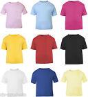 NEW Baby Toddler Boy/Girl Plain Short Sleeve T-Shirt Top 100% Cotton 0 to 3 Kids