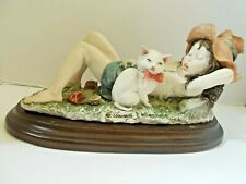 Capodimonte - Vintage Figurine - Sleeping Girl With Cat Giuseppe Armani Signed