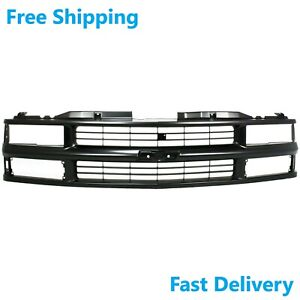 New Front Grille Composite Head Light Black Fits Chevrolet Tahoe 92-02 GM1200239