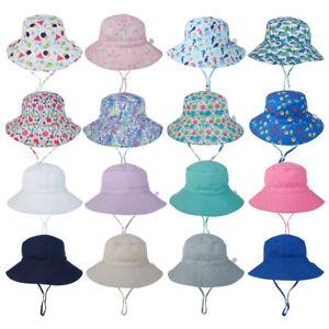Baby Sun Hat Summer Beach Hat Bucket Cap Boy Girl Toddler Kids Newborn 0-6 Years