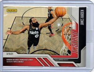 2020-21 Panini Instant #102 James Harden Brooklyn Nets Basketball Card 1 of 124