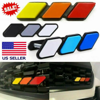 Tri-color 3-Grille Badge Emblem Sticker For Toyota Tundra 4Runner Tacoma TRD Pro