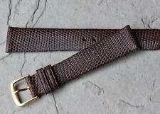 Fine pinpoint radiating scales 18mm Genuine Lizard vintage watch strap 1960s NOS