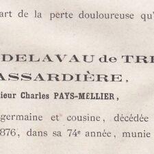 Marie Lucille Delavau De Treffort De La Massardiere Pays-Mellier 1876