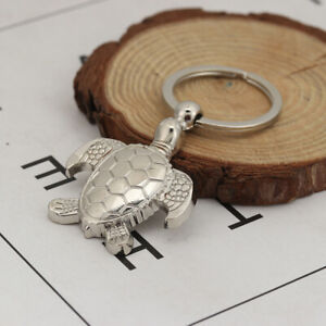 Clip-on Sea Turtle Keychain KeyRing HandBag Purse Charm Pendant Zipper Pull