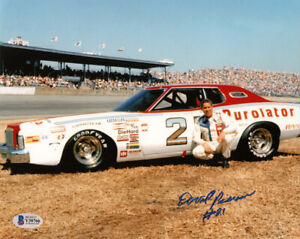 DAVID PEARSON SIGNED AUTOGRAPHED 8x10 PHOTO NASCAR RACING LEGEND BECKETT BAS