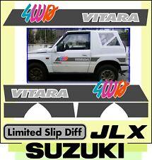 Adesivi SUZUKI - JLX fuoristrada 4WD - VITARA fasce laterali