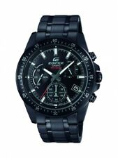 Casio Edifice Herrenuhr Uhr Chronograph Datum 10 BAR Schwarz EFV-540DC-1AVUEF