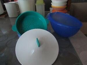 Lot de boites tupperware bleu