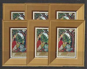 Hungary -  Six (6) 1967 Bela Uitz Painting MNH - Souvenir Sheets
