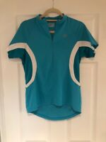 Bontrager Jersey Cycling Shirt 1/2 Zip Blue White Women Size M Pockets