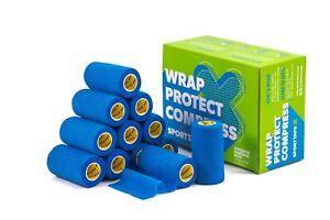 SPORTTAPE Cohesive Bandage   Self Adherent Vet Wrap, Sock Wrap - Multipacks 6/12