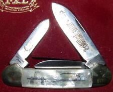 SCHRADE  scrimshaw POCKET KNIFE model I-XL NIB steamboat fishing boat