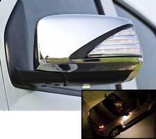CHROME MIRROR COVER TRIM LED FOR ISUZU DMAX D-MAX RODEO 2012 2013 2014 15 16 17