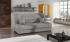 Jonas grey fabric click clack sofa, sofa bed, bed settee and storage compartment