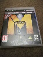 Metro Last Light Limited Edition  Sony PlayStation 3 PS3 Game