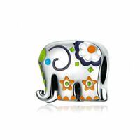 Women Authentic 925 Sterling Silver Accessories Happy Baby Elephant Charms Beads