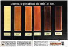 Publicité Advertising 1989 (2 pages) Traitement de bois Xyladecor