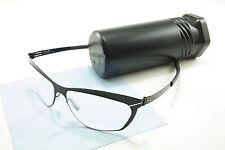 IC! Berlin Eyeglasses Frame Barbara Black Stainless Steel Germany 54-15-140, 35