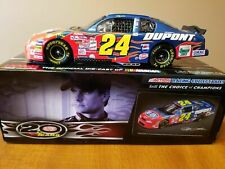 JEFF GORDON 2001 DUPONT 4X CHAMPION 1/24 20TH ANN DUPONT 2012 DIECAST CAR 1/853