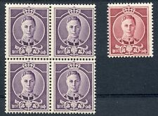 Australia 1940 Waterlow essays for King George VI  stamps block 4 + single