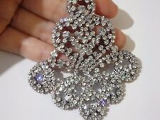 rhinestone applique patch sew on crystal dancing dress making UK RP4