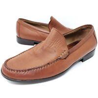 Johnston Murphy Cresswell Venetian Loafer Moccasin Cognac Slip On Shoes Men 9M