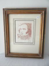 SALVADOR DALI HAND SIGNED SEPIA ETCHING GEORGE WASHINGTON FIVE AMERICANS SUITE