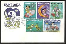 St. LUCIA # 491-9,500 MICKEY MOUSE MOON WALK FDC's