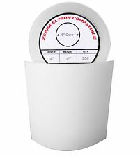 "4x4 (4"" x 4"") Direct Thermal Zebra Eltron Labels (4 Rolls/350 Labels)"