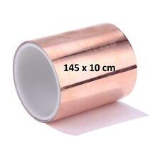 F49 - 1,45 m Kupferband 10 cm breit  selbstklebend Abschirmband Kupferfolie