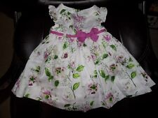 FIRST IMPRESSIONS Cradle Pink Flower Dress W/Bottoms Size 6/9 Months Girl's EUC
