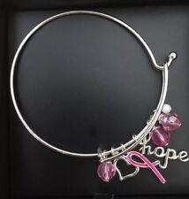 Breast Cancer Awareness Crusade Hope Silver Charm Bracelet New Avon